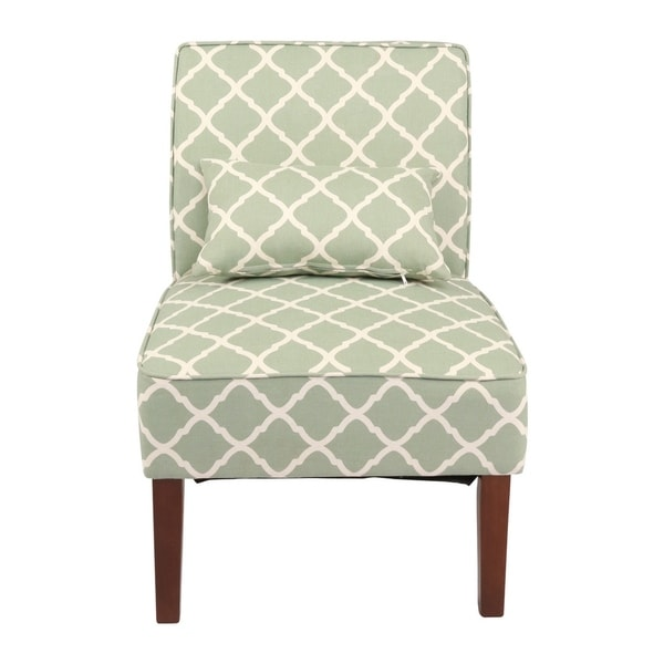 Green Pattern Accent Chair: Shop Innovex Home Products Novian Contemporary Design