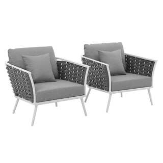 Link to Havenside Home Newtok Armchair Patio Aluminum Set of 2 Similar Items in Patio Dining Chairs