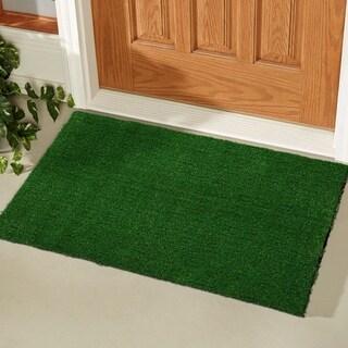 Evergreen Indoor/Outdoor Artificial Grass Turf Green Door Mat