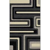 "Gray Modern Area Rug 5x8 - 5'4"" x 7'5"""