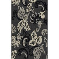 """Gray Abstract Floral Modern Area Rug 5x8 - 5'4"""" x 7'5"""""""