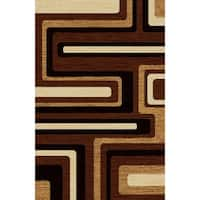 "Brown Modern Area Rug 5x8 - 5'4"" x 7'5"""