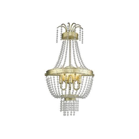 Livex Lighting Valentina 3 Light Hand Applied Winter Gold Wall Sconce