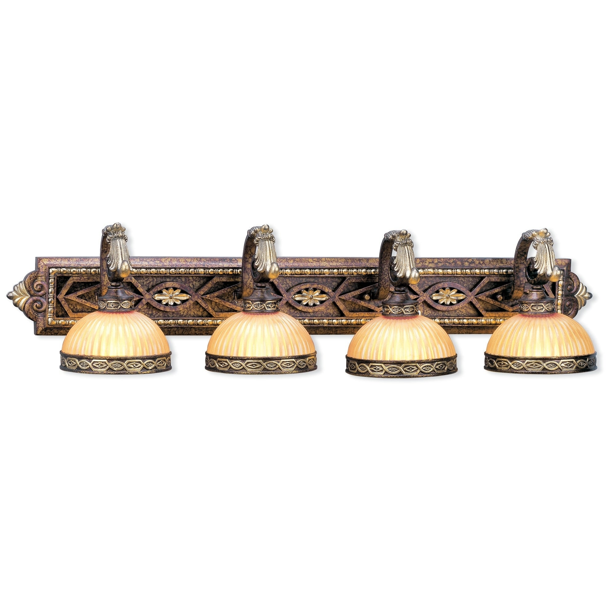 Livex Lighting Seville 4 Light Palacial Bronze With Gilded Accents Bath Vanity Overstock 26170054