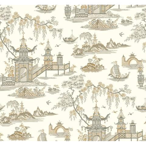 Pagoda Wallpaper, 20.5 in. x 33 ft. = 56 sq.ft