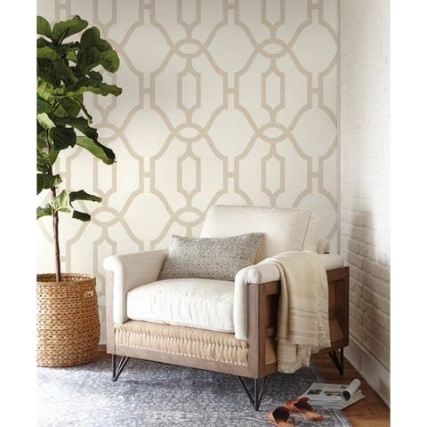 Woven Trellis Wallpaper, 20.5 in. x 33 ft. = 56 sq.ft