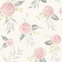 Watercolor Roses Wallpaper, 20.5 in. x 33 ft. = 56 sq ft