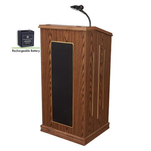 Oklahoma Sound Prestige Lectern and Rechargeable Battery