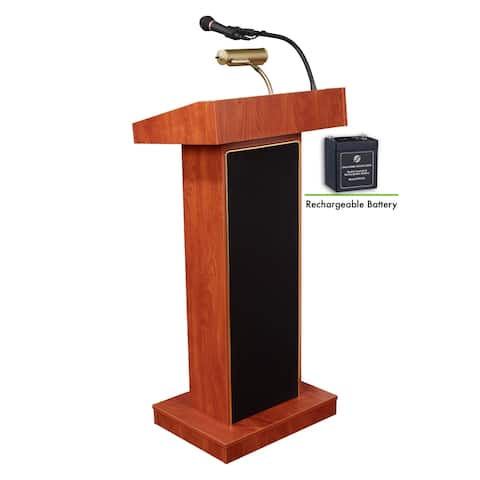 Oklahoma Sound Orator Lectern and Rechargeable Battery