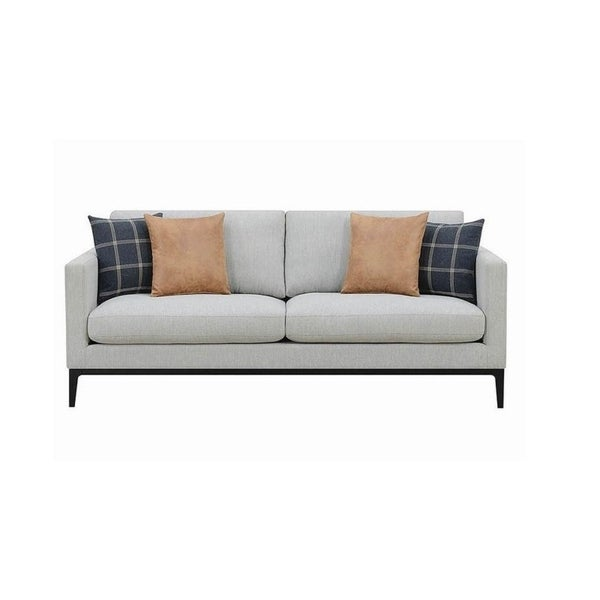 Shop Soraka Light Grey Woven Texture Sofa Free Shipping Today
