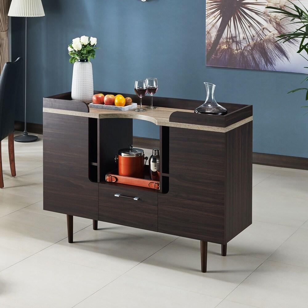 Furniture of America  Nae Mid-century Modern Wenge Buffet Serverr (Wenge)