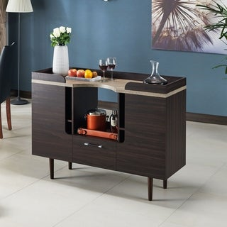 Furniture of America Pattermon Mid-century Modern Two-tone Wenge Buffet Server
