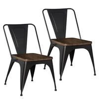 Standard Furniture Nelson Brown Metal Side Chair (Set of 2)