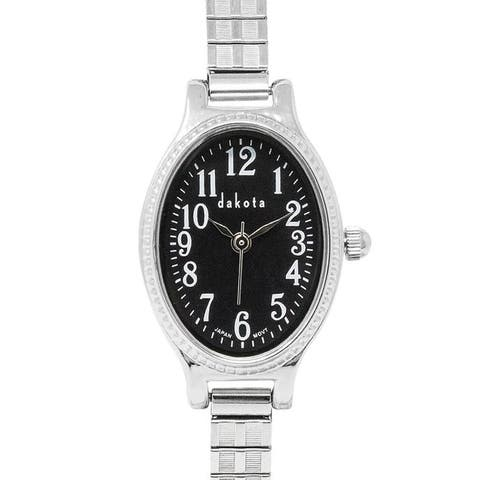 Dakota Ladies Oval Twist 21mm Stainless Steel Expansion Band Watch