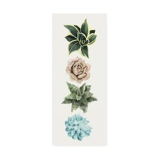 Grace Popp Row of Succulents I Canvas Art
