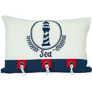 Nautical Lighthouse Decorative Pillow