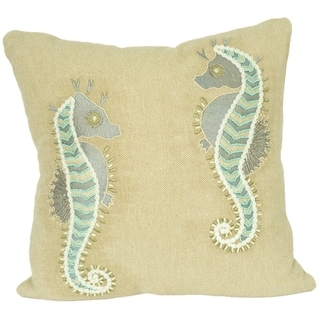 Twin Seahorse Decorative Pillow