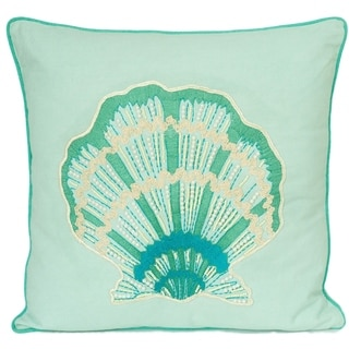 Sea Shell Cotton Large Decorative Pillow