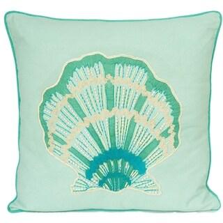 Sea Shell Cotton Large Decorative Pillow
