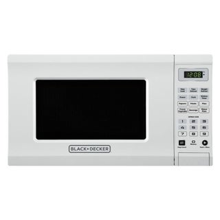 Black and Decker  0.7 cu. ft. White  700 watts Microwave