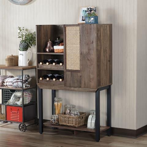 Carbon Loft Conway Farmhouse Reclaimed Oak Kitchen Hutch