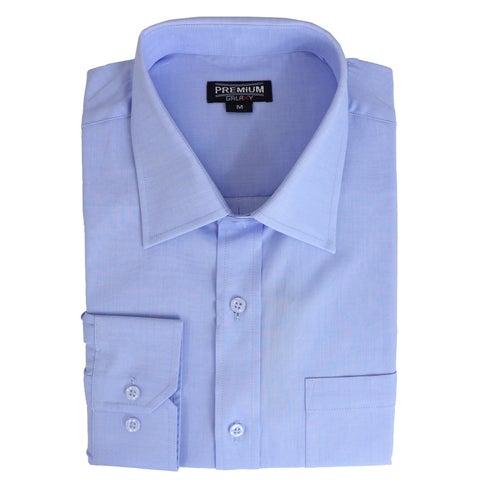 Galaxy By Harvic Men's Long Sleeve Slim-Fit Casual Dress Shirts