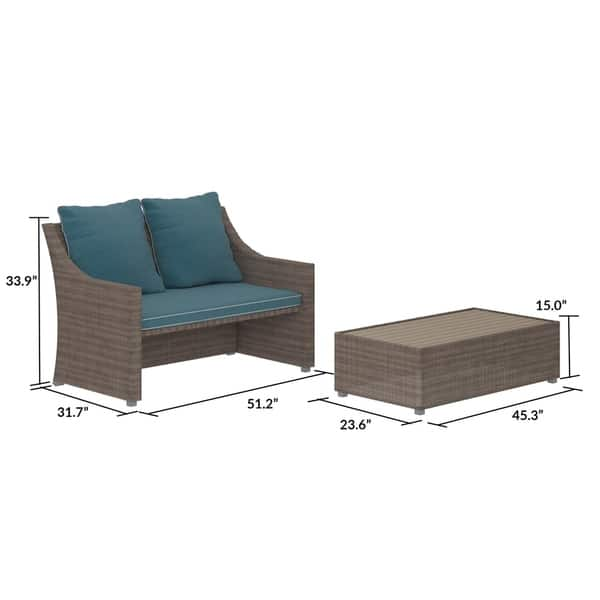 Excellent Shop Cosco Outdoor Bluffs Grey 2 Piece Patio Loveseat And Ocoug Best Dining Table And Chair Ideas Images Ocougorg