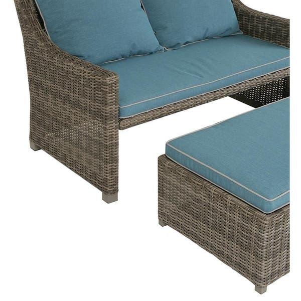 Brilliant Shop Cosco Outdoor Bluffs Grey 2 Piece Patio Loveseat And Ocoug Best Dining Table And Chair Ideas Images Ocougorg