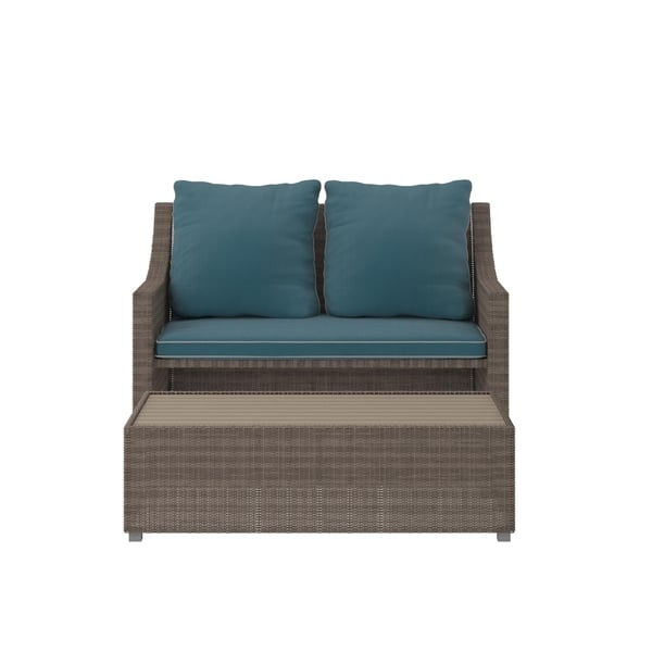 Groovy Shop Cosco Outdoor Bluffs Grey 2 Piece Patio Loveseat And Ocoug Best Dining Table And Chair Ideas Images Ocougorg