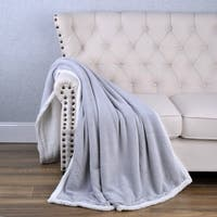 BOON Tangier Ultra Soft Sherpa Bed Sofa Couch Throw Blanket