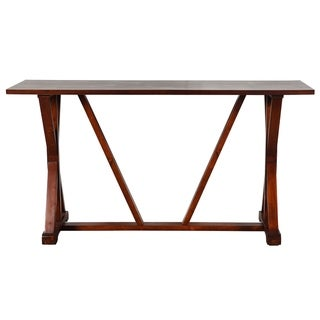 Presley Dark Brown Wooden Console Table