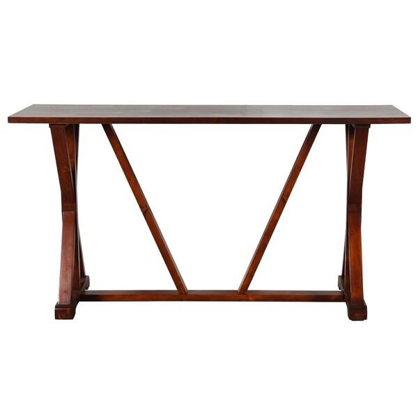 Presley Dark Brown Wooden Console Table