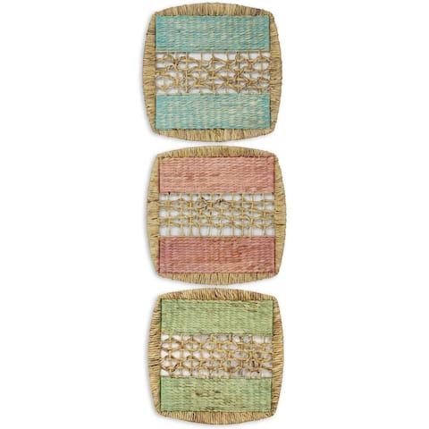 Seagrass Panel Wall Décor (Set of 3) - Brown - 20 x 20