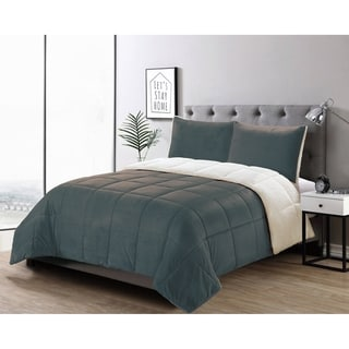 Porch & Den Ellis Micromink/ Sherpa 3-piece Comforter Set
