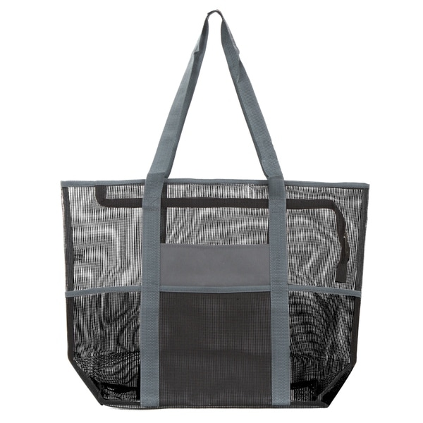 Ladies Large BEACH BAG Zip Blue /& White Stripe Tote Shopping Bag Handbag Summer