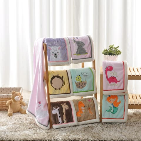 BOON Super Cute Cartoon Flannel Fleece Ultra Soft Baby Throw Blanket