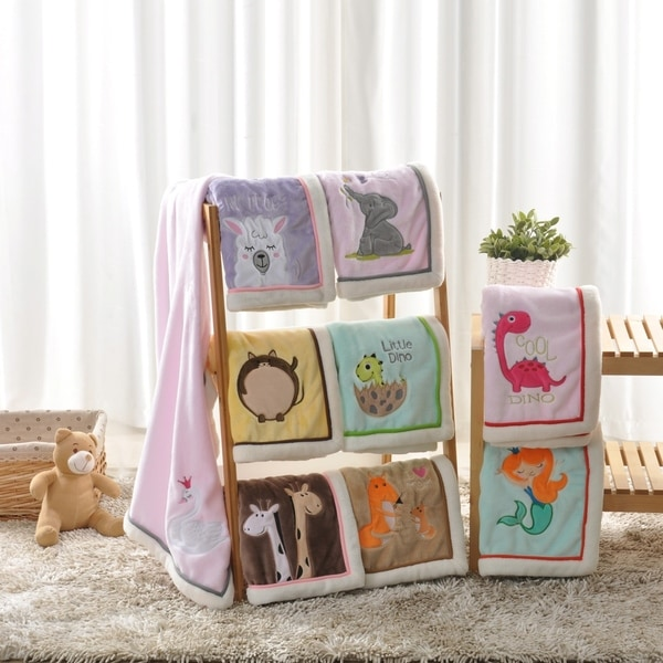 BOON Super Cute Cartoon Flannel Fleece Ultra Soft Baby Throw Blanket. Opens flyout.