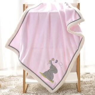 BOON Super Cute Cartoon Flannel Fleece Ultra Soft Baby Throw Blanket