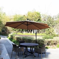 Kinbor 10ft Cantilever Umbrella Offset Patio Umbrella Market Hanging Umbrella