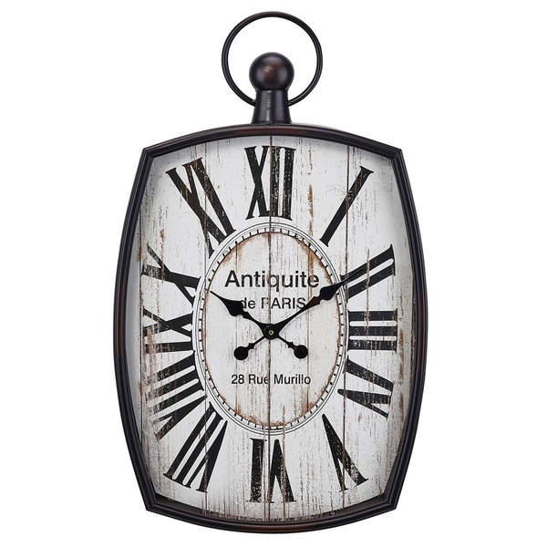 Shop Rectangular Roman Number Wall Clock With Attached