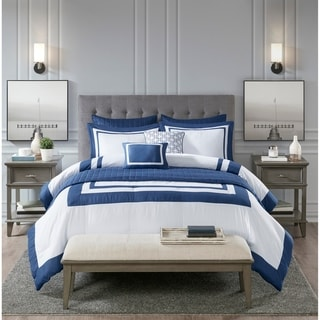 Link to Madison Park Lexington 8 Piece Comforter and Coverlet Set Collection 2-Color Option Similar Items in Comforter Sets