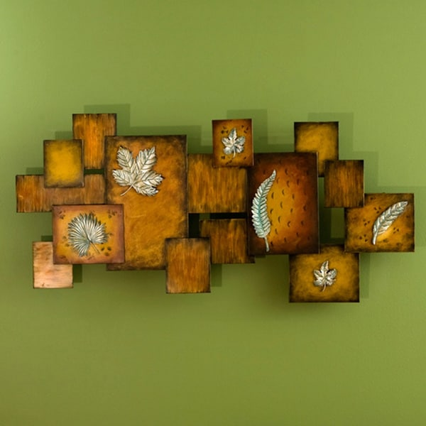 Harper Blvd Abstract Leaves Panel Wall Art