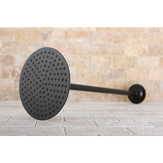 oilrubbed bronze showerhead and arm