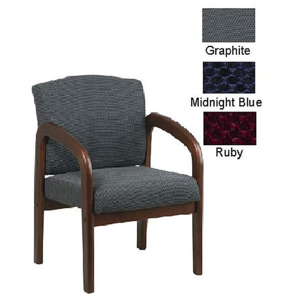 Office Star Visitors Chair with Cherry Finish