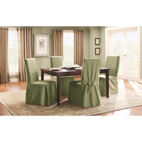 Fantastic Shop Sure Fit Cotton Classic Dining Chair Slipcover Free Uwap Interior Chair Design Uwaporg