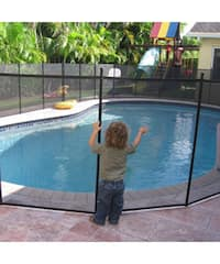 Shop water warden pool safety fence 5 ft x 12 ft free shipping today overstock 3187378 for Swimming pool safety fence prices