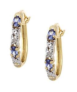 Icz Stonez 18k Gold overlay X & O Diamond CZ Hoop Earring
