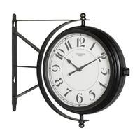 "Offex Home Metro Station 18"" Dual Face Clock and Thermometer in Oil Rubbed Bronze"
