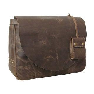 Amerileather Vintage Leather Messenger Bag