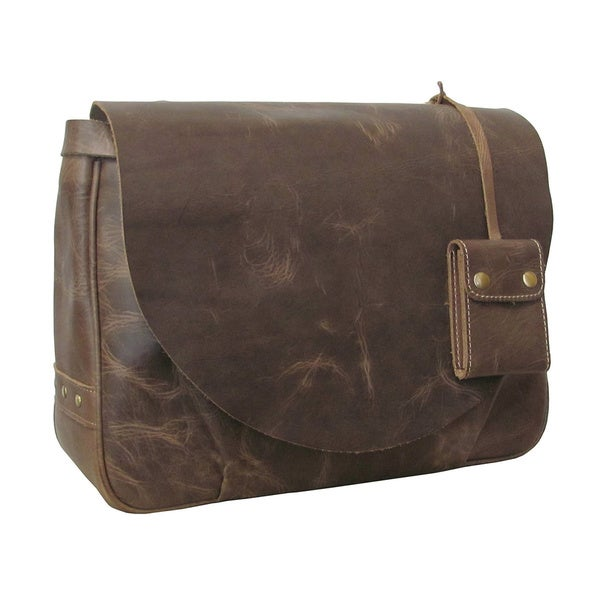 Amerileather Vintage Leather Messenger Bag